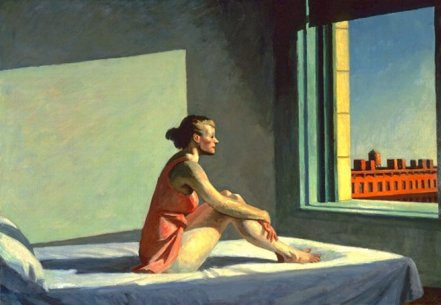 Morning Sun (Sol de la mañana) de Edward Hopper